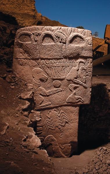A stone pillar at Göbekli Tepe