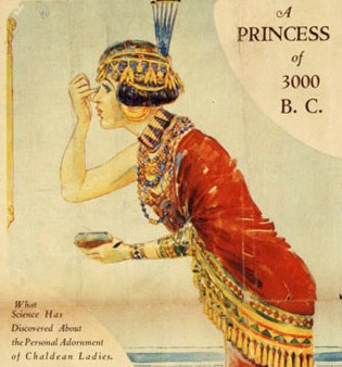Queen Puabi, as depicted in a magazine editorial in the 1920s