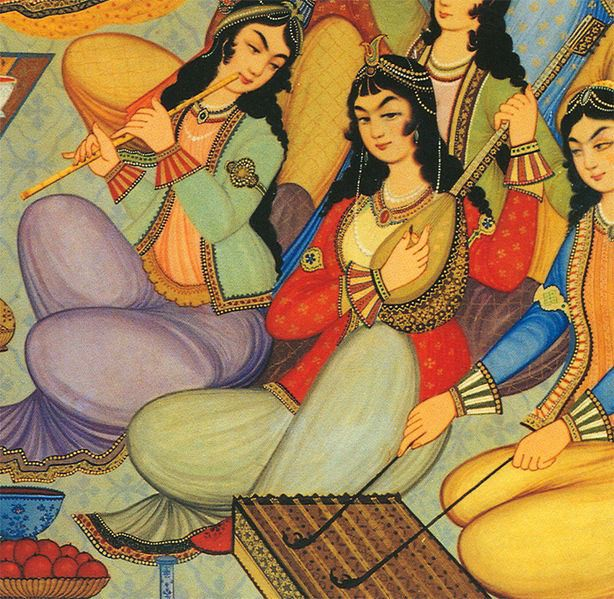 Romani musicians at the Persian court