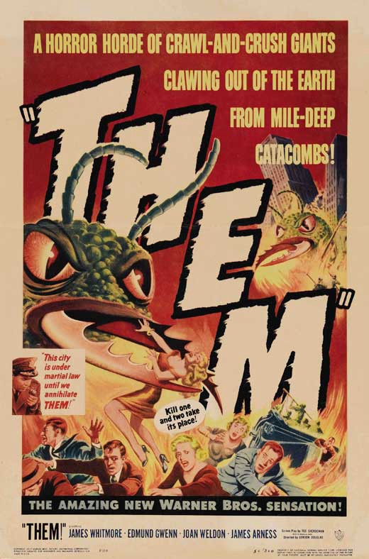 "Giant ants reappeared in the film ""Them!"" (1954)"