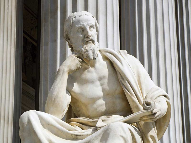 Herodotus, as depicted in an Athenian statue