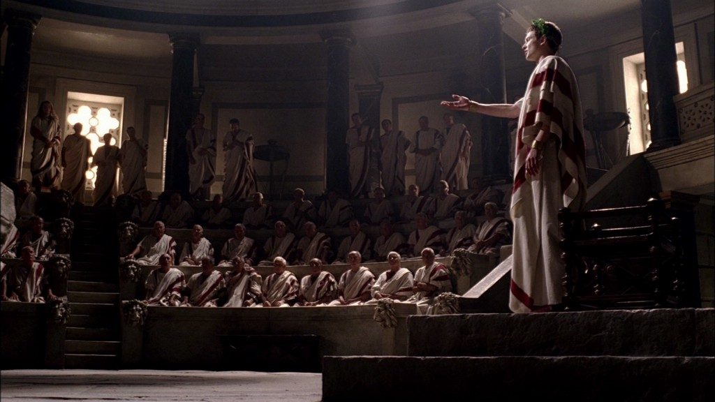 "The Roman Senate, as depicted on the TV series ""Rome"""