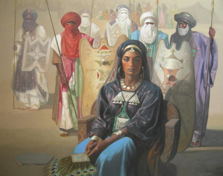 The Berber queen known as Tin Hinan, whose remains date from the 4th century BCE
