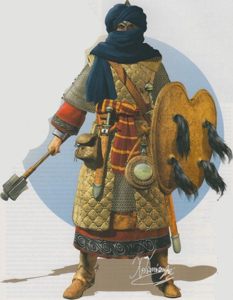 A medieval Berber warrior